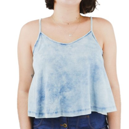 Blusinha Freesurf Top Denim Jeans