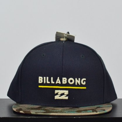 Boné Billabong System Class R Snap Cinza/Camuflado