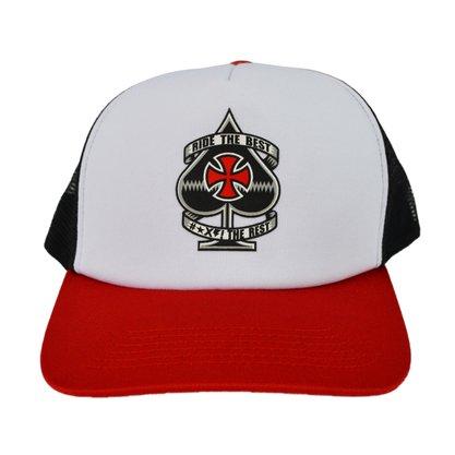 Boné Independent Ante Mesh Branco/Preto/Vermelho