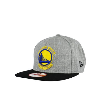 Boné Masculino New Era Golden State Warriors NBA Mescla Claro