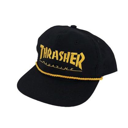 Boné Masculino Trhasher Mag Logo Rope Preto/amarelo