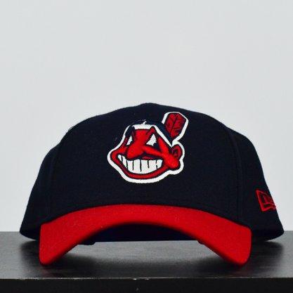 Boné New Era Cleveland Indians MLB Preto/Vermelho