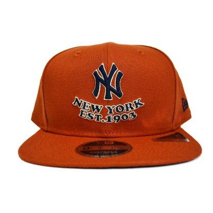Boné New Era Snap MLB New York Yankees Terracota