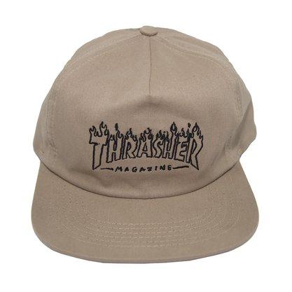 Boné Thrasher DrunkWitch T Mag Logo Caqui