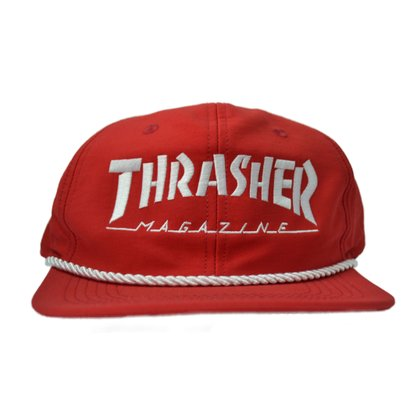 Boné Thrasher Mag Logo Rope Vermelho/Branco