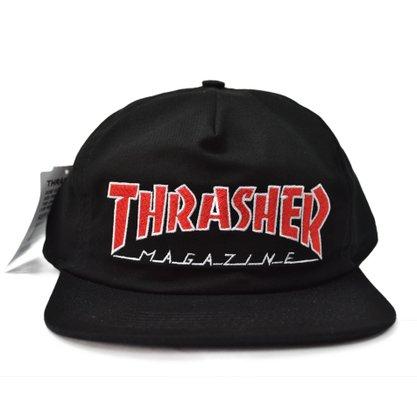 Boné Thrasher Outline Mag Logo Preto