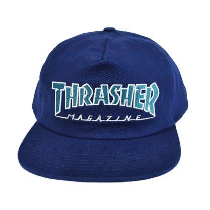 Boné Thrasher Outline T. Mag Logo Azul Marinho