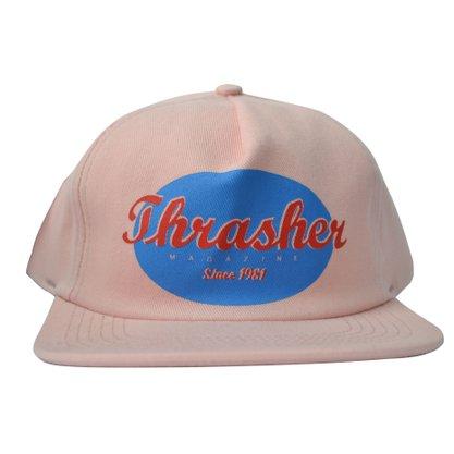 Boné Thrasher Oval Script Logo Rosa