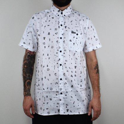 Camisa Masculina Drop Dead Full Flash Branco