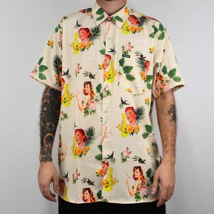 Camisa Masculina Drop Dead Tropical Areia