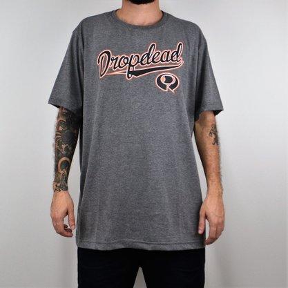 Camiseta Masculina Drop Dead Big Baseball Mescla