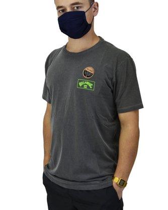 Camiseta Billabong Arch Cinza Escuro