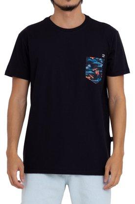 Camiseta Billabong Team Pocket Preto