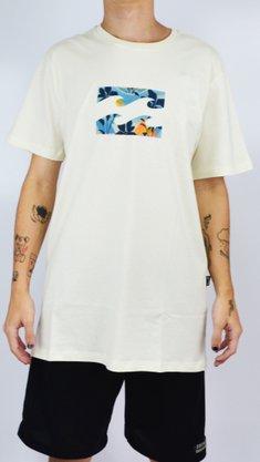 Camiseta Billabong Team Wave II Off White