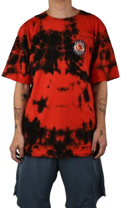 Camiseta Blinca Tie Dye Vermelho/Preto