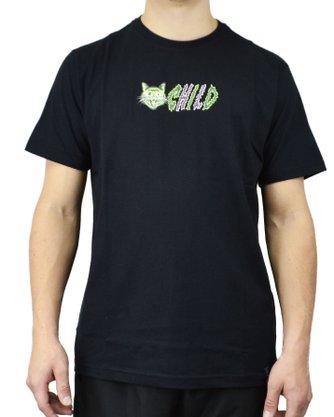 Camiseta Child Freak Cat Preto