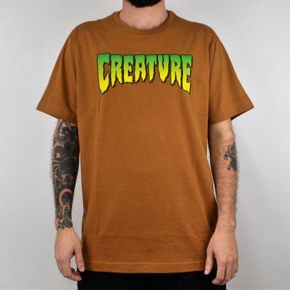 Camiseta Masculina Creature Logo Caqui