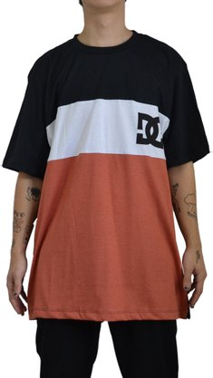Camiseta DC Shoes Glenferrie II Telha/Preto/Branco