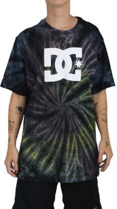 Camiseta DC Shoes Spiral TD Preto/Roxo/Verde