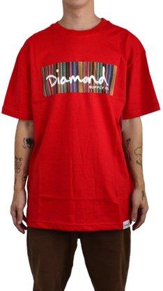 Camiseta Diamond Color Ply Box Logo Vermelho