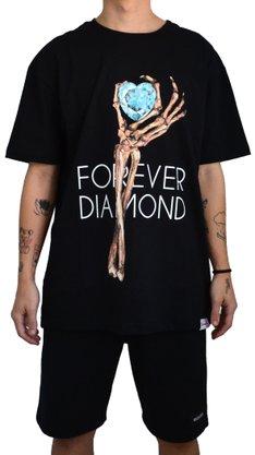 Camiseta Diamond Heart Of Preto