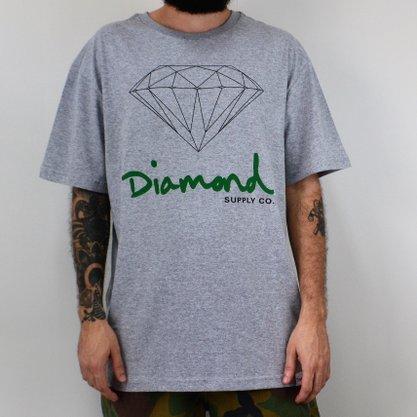 Camiseta Masculina Diamond Sign Tee Mescla