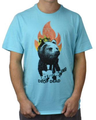 Camiseta Drop Dead Bear Turquesa