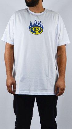 Camiseta Drop Dead Big Firing Logo Branco