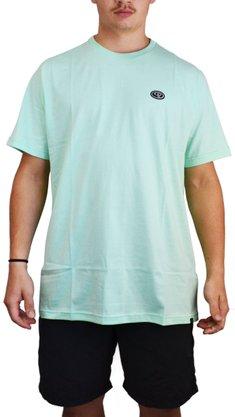 Camiseta Drop Dead Bottom Verde Água