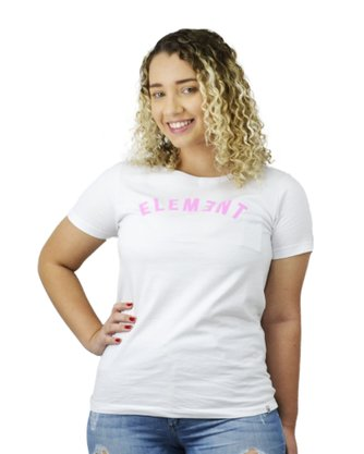 Camiseta Element Logo Curve Branco