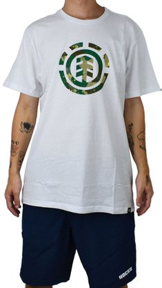 Camiseta Element Water Camo Icon Fill Branco