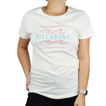 Camiseta Feminina Billabong Palm Spring Creme