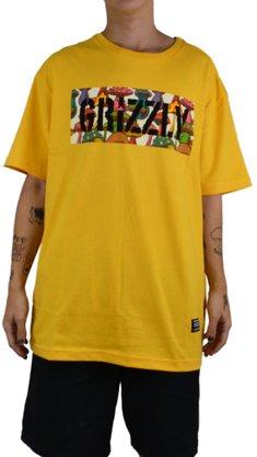 Camiseta Grizzly Fungi Box Amarelo