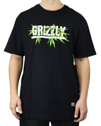 Camiseta Grizzly Seed Stamp Preto