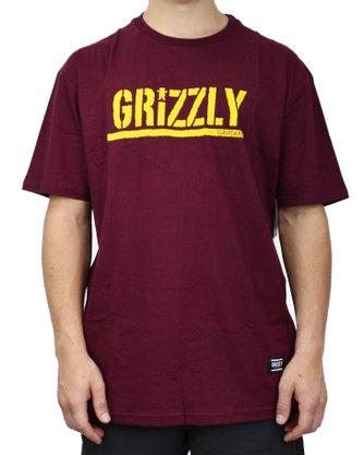 Camiseta Grizzly Stamped Logo Bordô