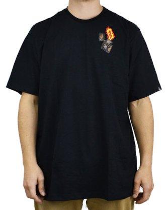 Camiseta Grow Company Burning Preto