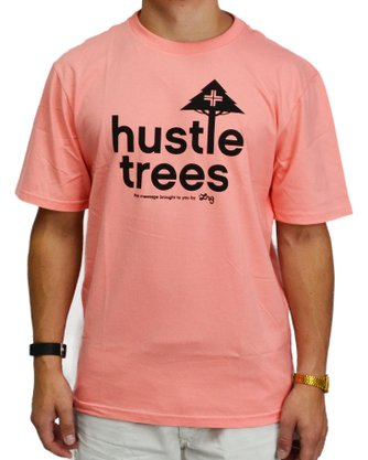 Camiseta LRG Hustle Trees Coral