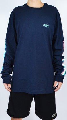 Camiseta Manga Longa Billabong Sleeves Azul Marinho