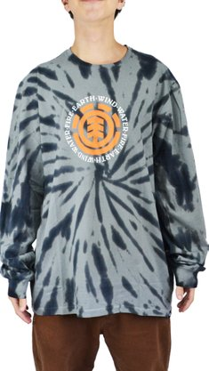 Camiseta Manga Longa Element Twisted Cinza