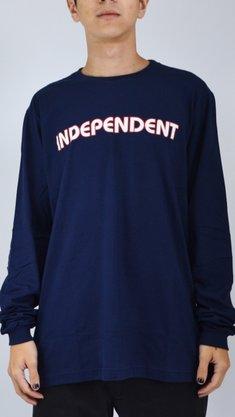 Camiseta Manga Longa Independent Bar Logo Azul