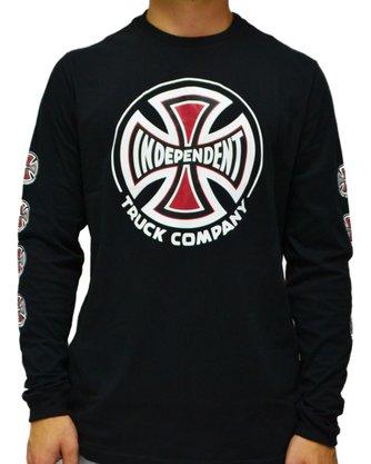 Camiseta Manga Longa Independent Truck Co Preto