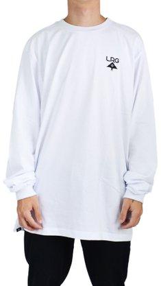 Camiseta Manga Longa LRG Logo Plus Tee Branco