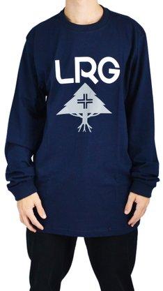Camiseta Manga Longa LRG Stack Logo Azul Marinho