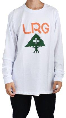 Camiseta Manga Longa LRG Stack Logo Branco