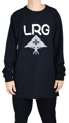 Camiseta Manga Longa LRG Stack Logo Preto