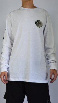 Camiseta Manga Longa Volcom Sick Branco