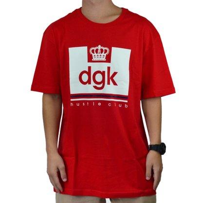 Camiseta Masculina DGK Hustle Club Vermelho