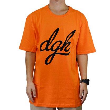 Camiseta Masculina DGK Script Laranja