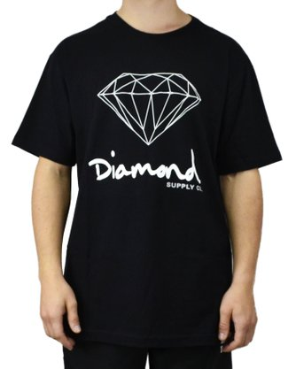 Camiseta Masculina Diamond OG Sign Preto