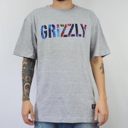 Camiseta Masculina Grizzly Nice Trip Mescla Claro